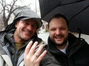 Weißgold Ehe Ring im Schnee verloren Auftragssucher Markus Pütterich konnte den Ring mit einem Minlab Metalldetektor E-trac wieder finden