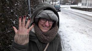 Gold Ring im Schnee verloren Auftragssucher Markus Pütterich wiedergefunden