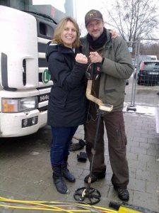 Verlobungsring bei der Arbeit im Schnee verloren Auftragssucher Markus Pütterich konnte den Ring wieder finden